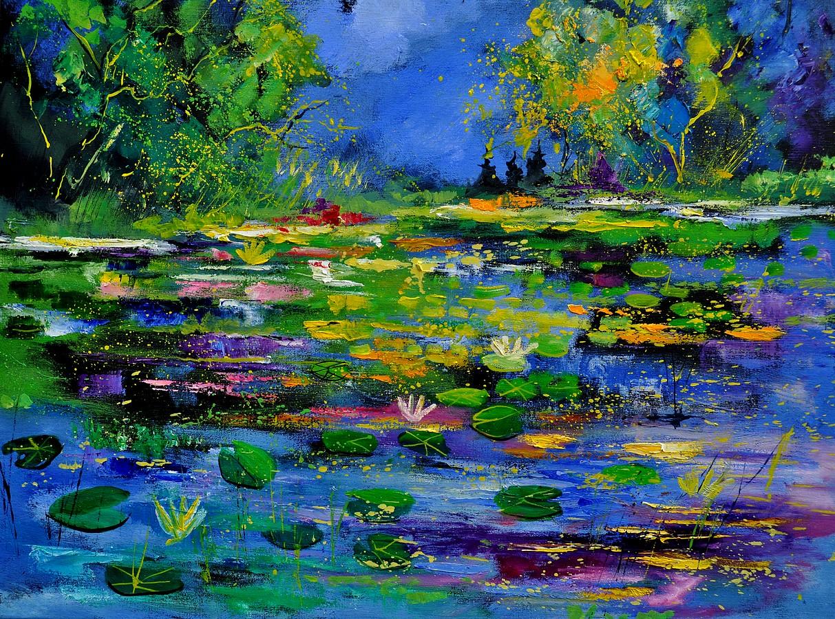 """Pond 791180"" original fine art by Pol Ledent"