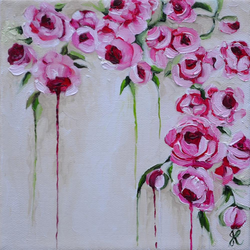 """Dripping Roses"" original fine art by Jacinthe Rivard"
