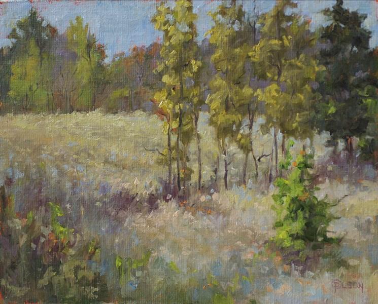 """""""autumn grays"""" original fine art by Priscilla Olson"""