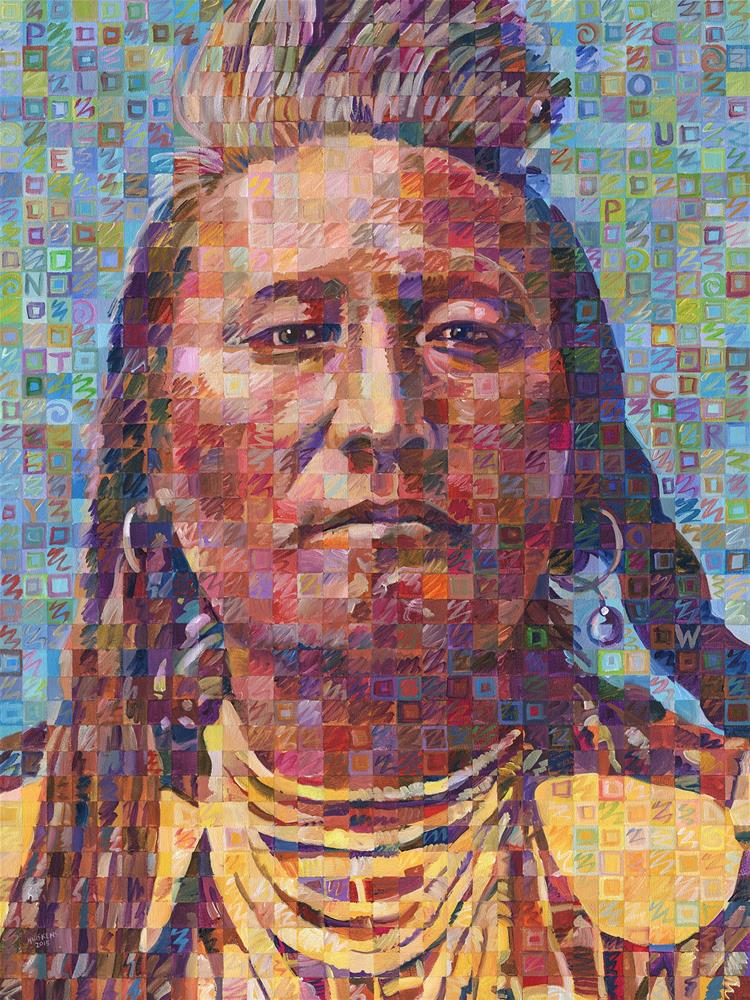 """Plenty Coups Of The Crow Nation"" original fine art by Randal Huiskens"