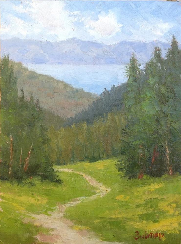 """View from Alpine Meadows"" original fine art by Mark Bidstrup"