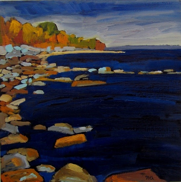 """Viewpoint, Georgian Bay"" original fine art by Nicki Ault"