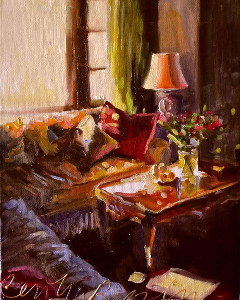 """SITKAMER IN MIDDAGSON"" original fine art by Cecilia Rosslee"