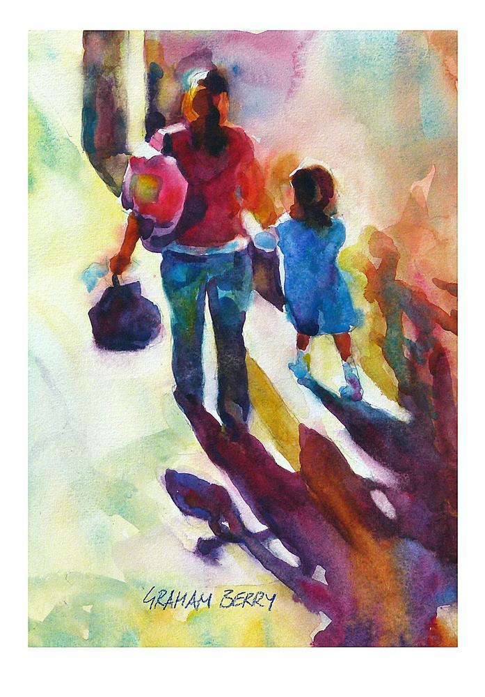 """Walking to school."" original fine art by Graham Berry"