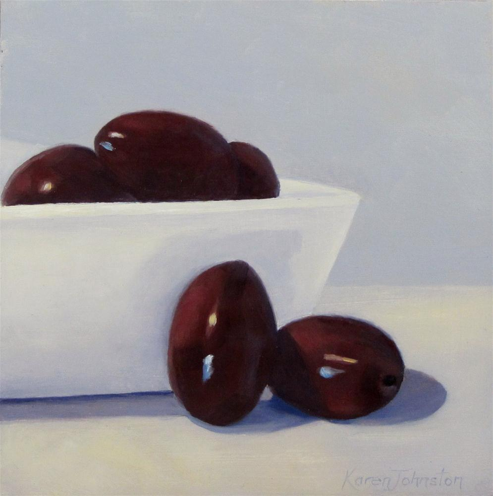 """Kalamata Olives"" original fine art by Karen Johnston"