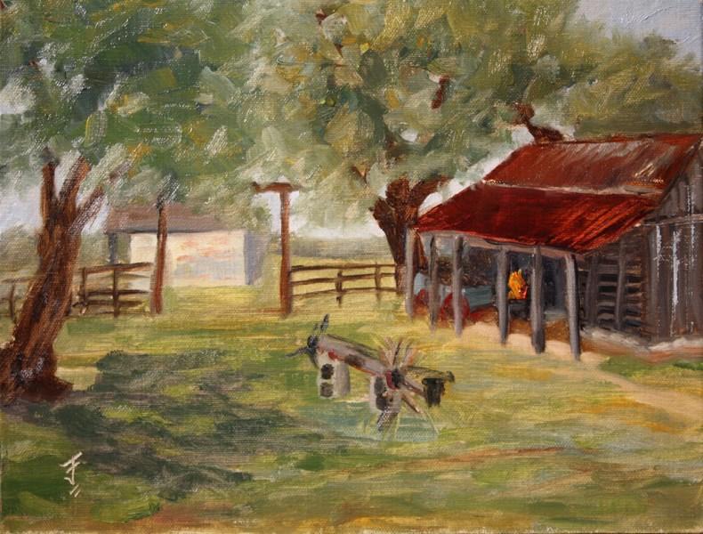 """The Smithy"" original fine art by Jane Frederick"