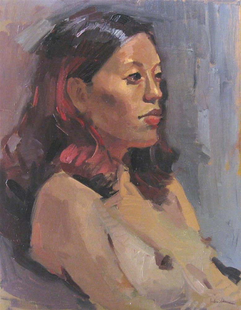 """Dark Gaze A Zorn Palette Nude"" original fine art by Sarah Sedwick"