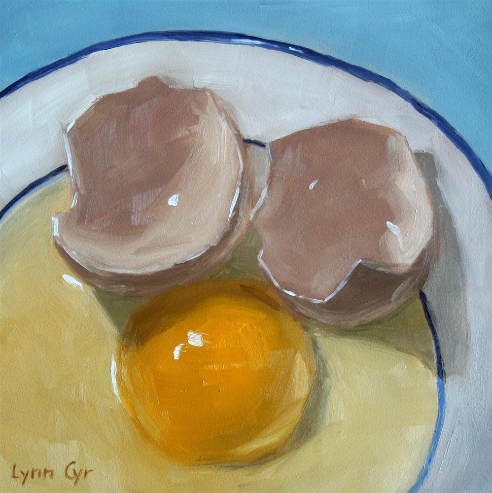 """""""Egg Face"""" original fine art by Lynn Cyr"""