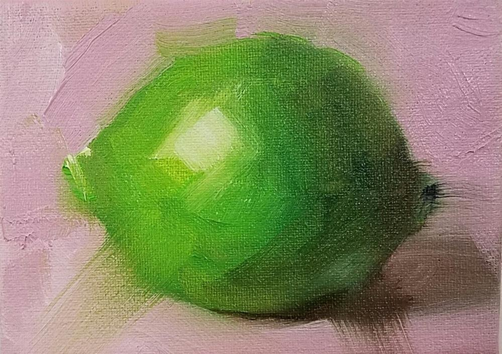 """Lime and Pink"" original fine art by Cindy Haase"