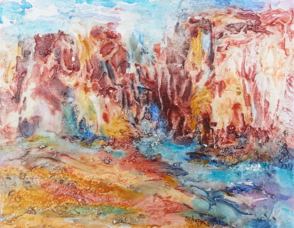 """Canyon Mouth"" original fine art by Becky Chappell"