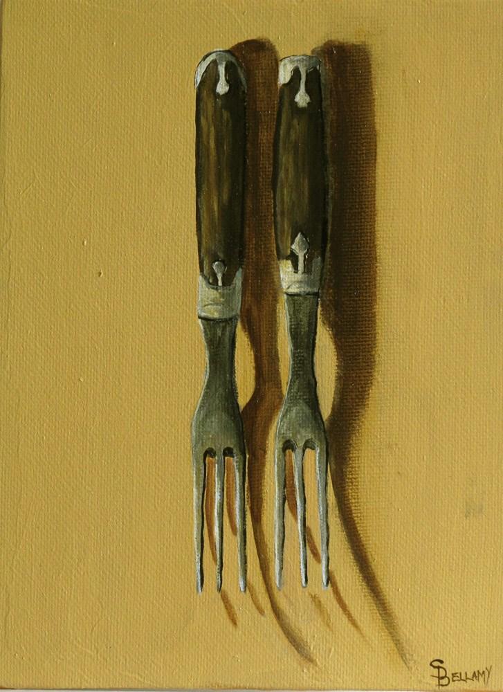 """Antique Forks"" original fine art by Sherry Bellamy"