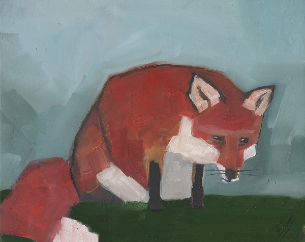 """Fox"" original fine art by Elizabeth See"