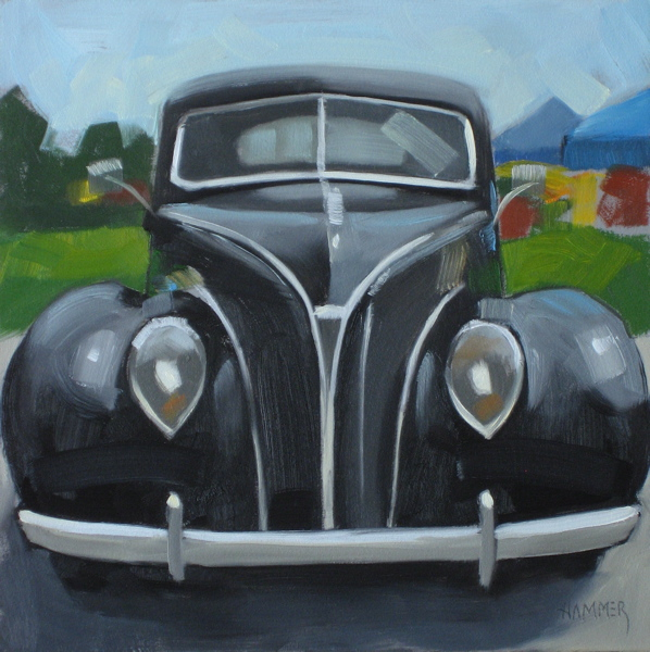 """1938 Ford V8 6x6 oil"" original fine art by Claudia Hammer"