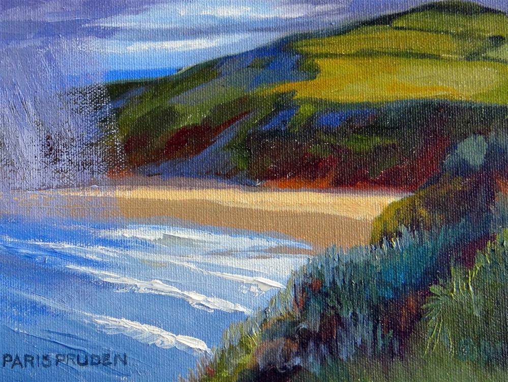 """""""Windy Cliffs of Ireland"""" original fine art by Nancy Paris Pruden"""