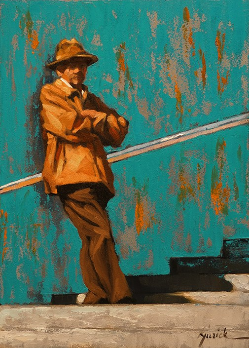 """Side Steps"" original fine art by Karin Jurick"