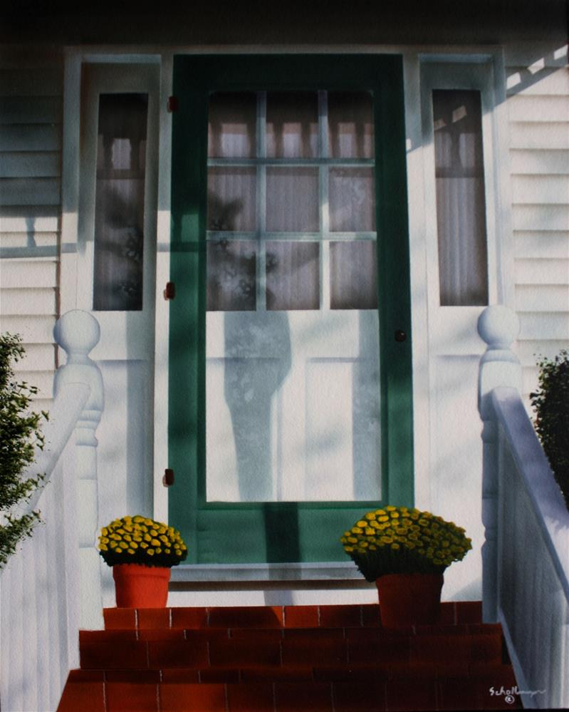 """Porch on Maple Street"" original fine art by Fred Schollmeyer"