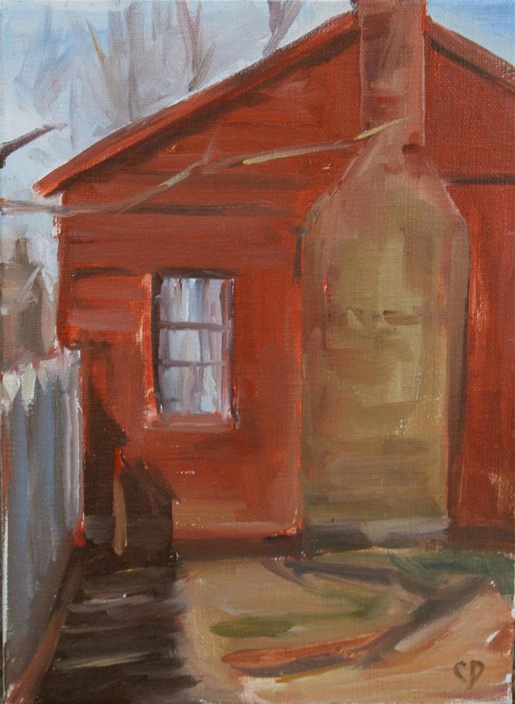 """Carter House - Battle Refuge"" original fine art by Carol DeMumbrum"