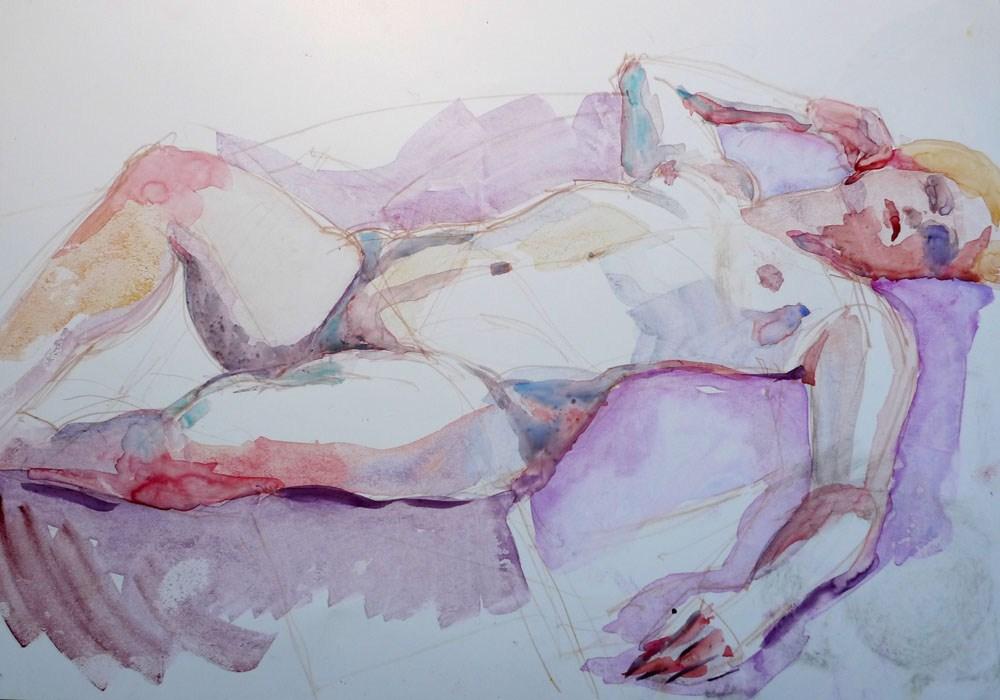 """Angie in repose"" original fine art by Myriam Kin-Yee"
