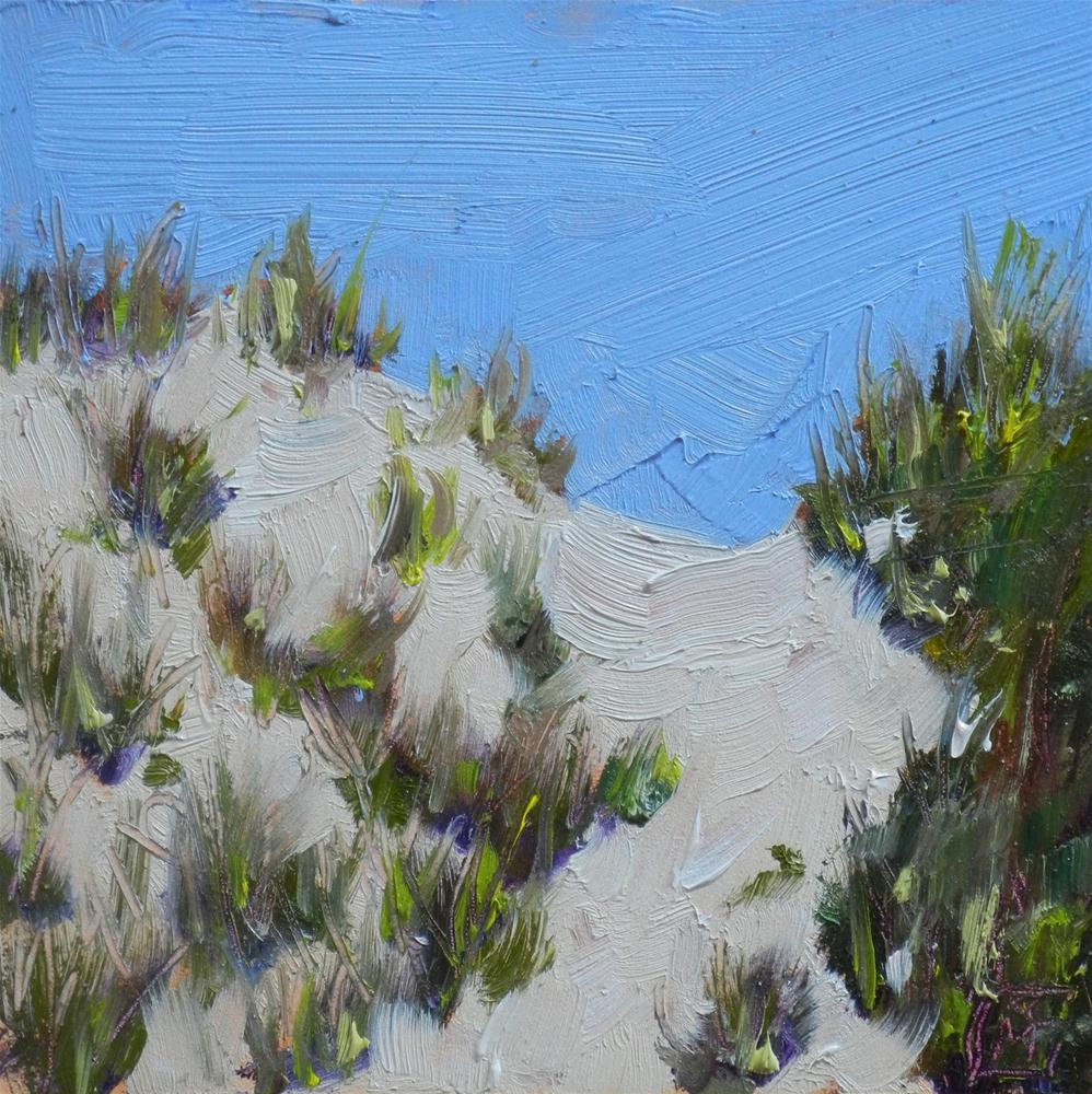 """Dunes of Summer, 4x4 Inches, Oil Painting"" original fine art by Kelley MacDonald"