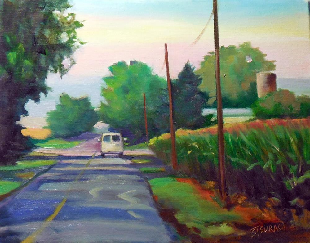 """Wet Road"" original fine art by Susan Suraci"