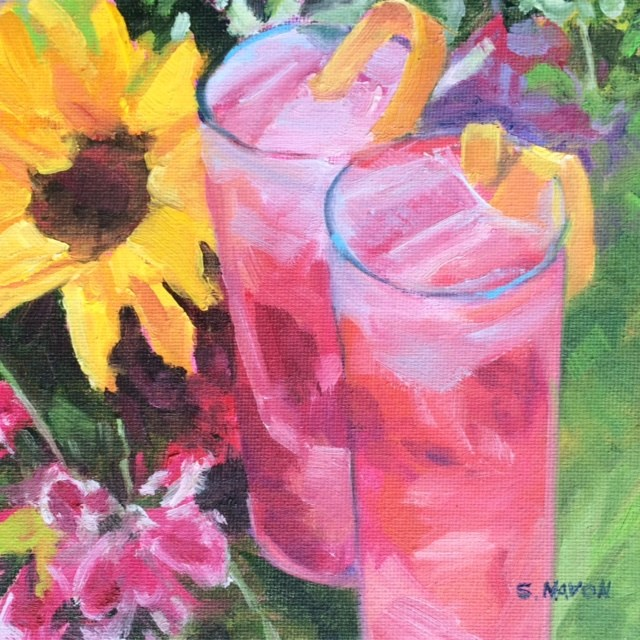 """Signs of Summer"" original fine art by Stephanie Navon Jacobson"