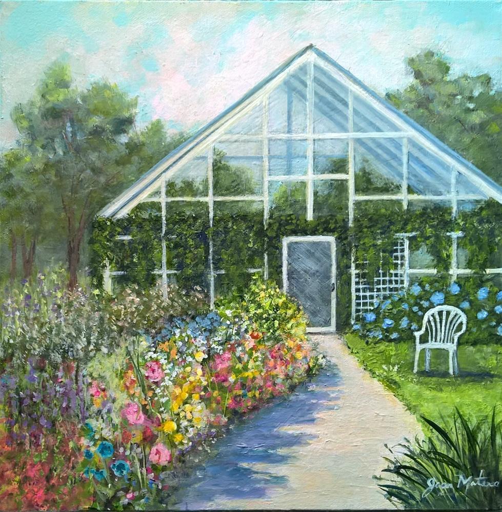 """Greenhouse"" original fine art by Joan Matero"