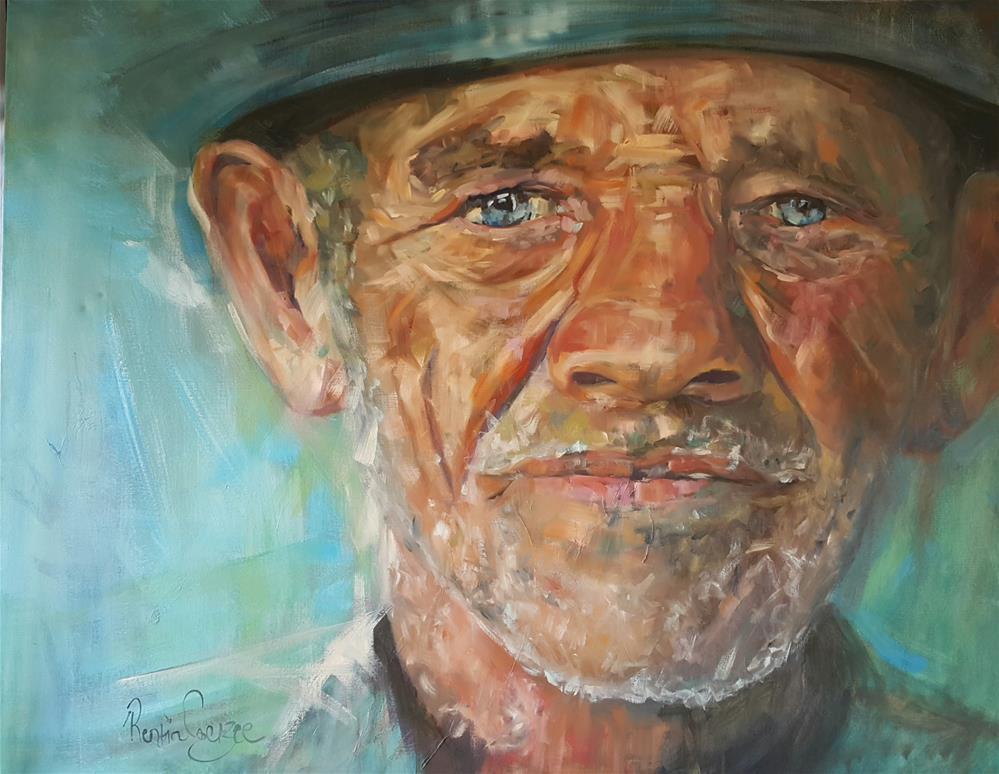 """""""Blue eyes"""" original fine art by Rentia Coetzee"""