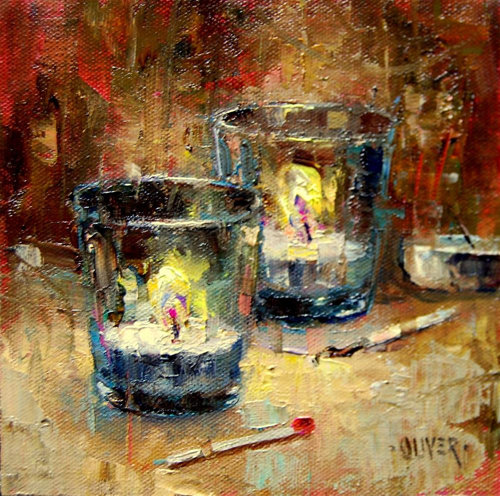 """Tea Lights"" original fine art by Julie Ford Oliver"