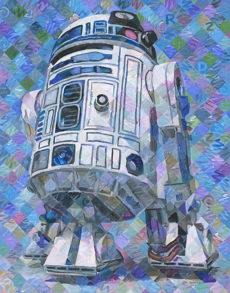 """R2-D2"" original fine art by Randal Huiskens"