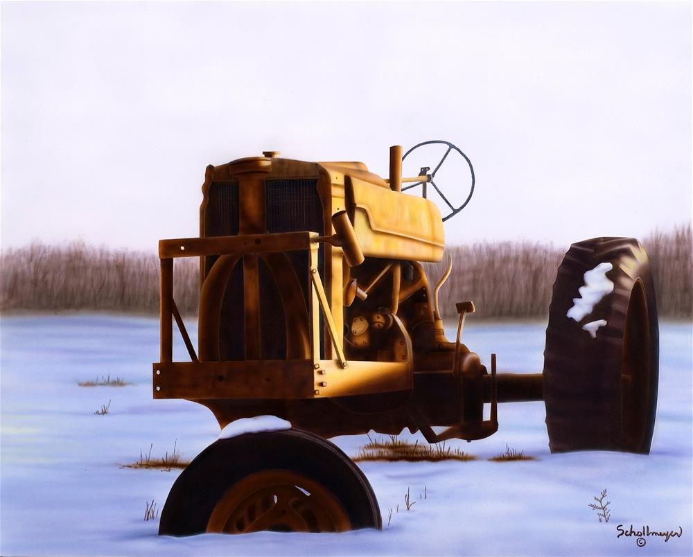 """Last Light"" original fine art by Fred Schollmeyer"