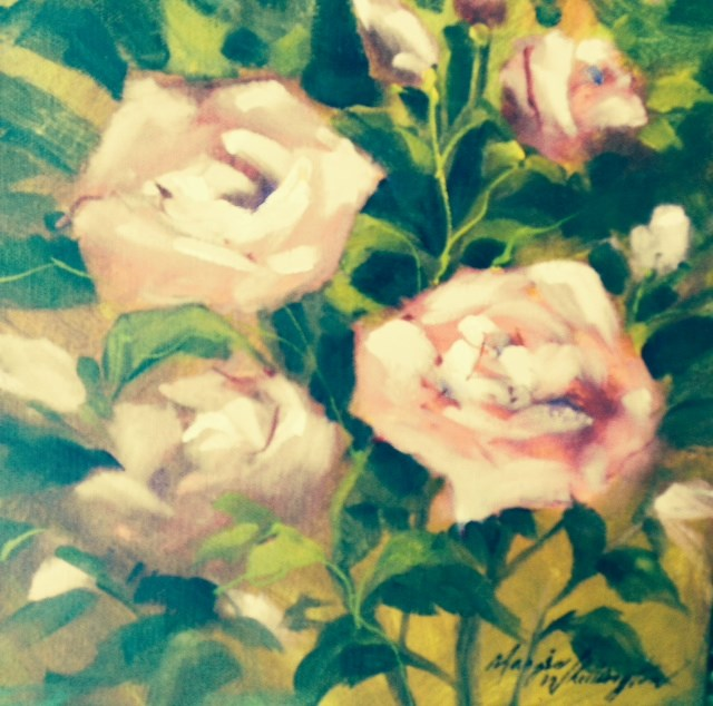 """Maggie's Roses"" original fine art by Margie Whittington"
