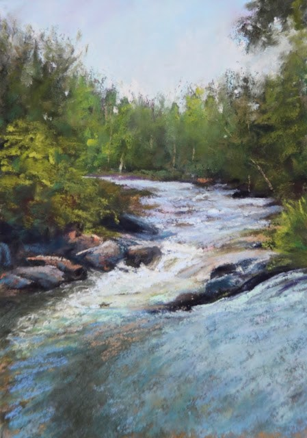 """Singing Waters"" original fine art by Sharon Lewis"