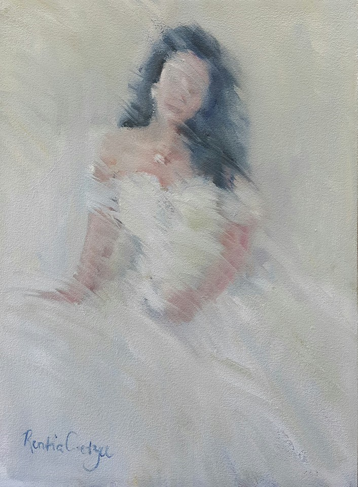"""Lady in waiting"" original fine art by Rentia Coetzee"