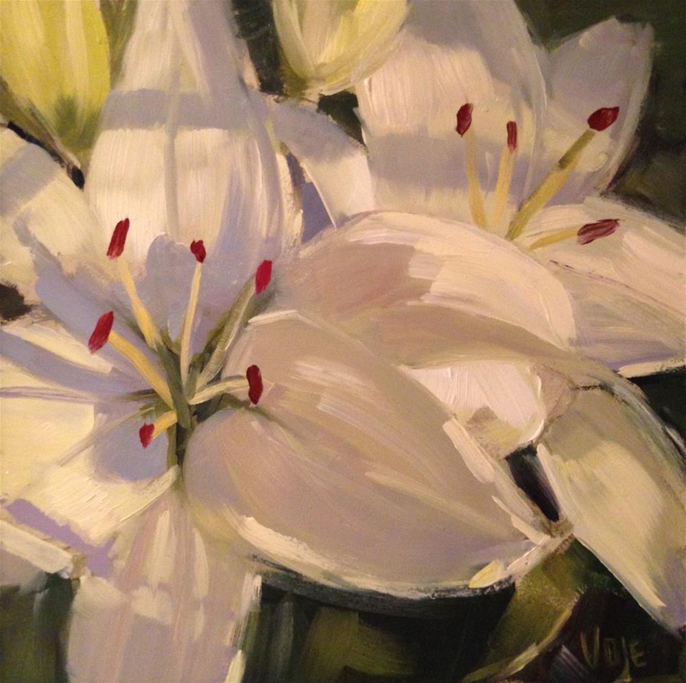 """#103 Garden Surprise"" original fine art by Patty Voje"