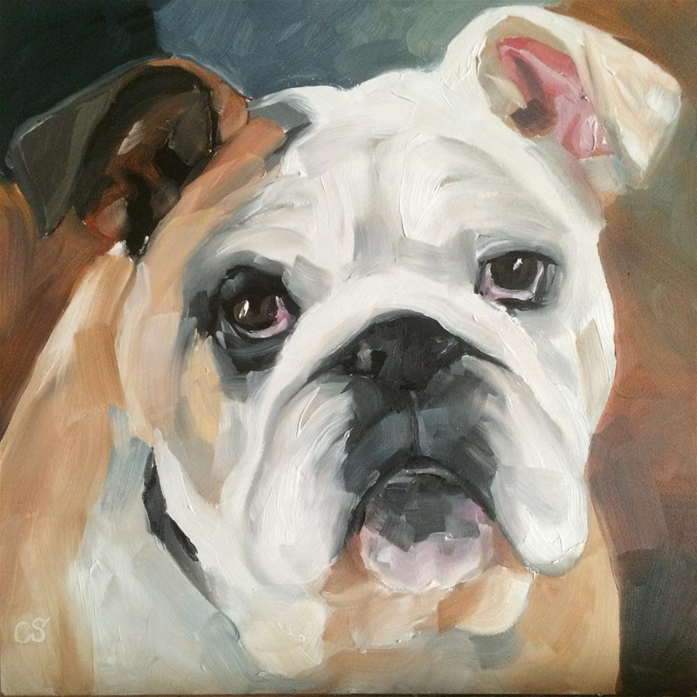 """Clyde"" original fine art by Carol Stickley"