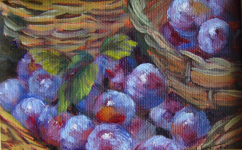 """Sweeter than the Berry"" original fine art by Lina Ferrara"