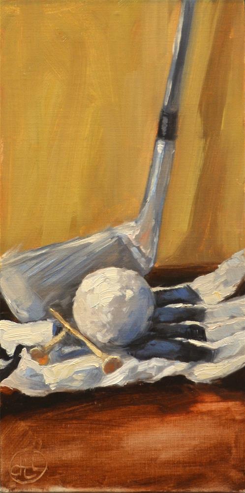 """the practice round"" original fine art by Dottie  T  Leatherwood"