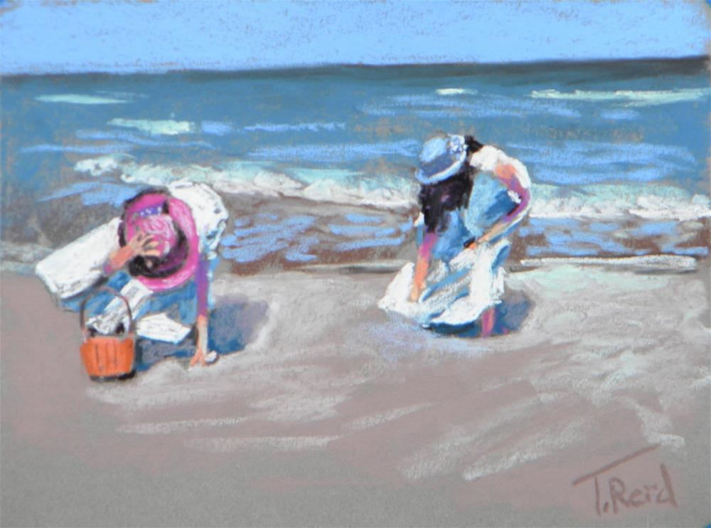 """Windy Beach Morning"" original fine art by Toby Reid"