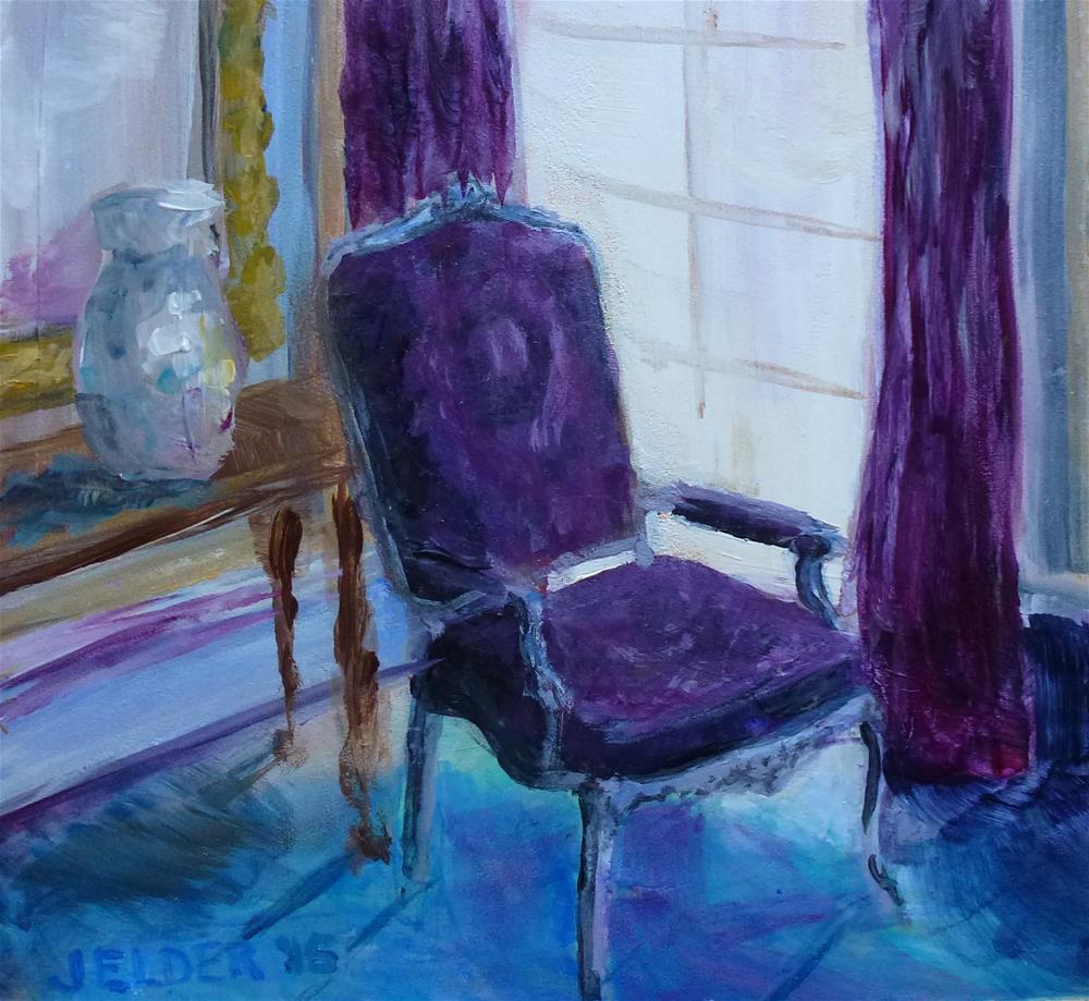 """""""Chair"""" original fine art by Judith Elder"""