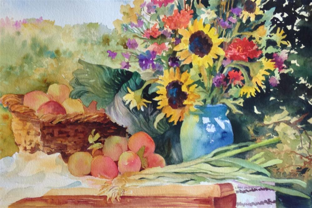 """Bounty of Summer"" original fine art by Libby Anderson"