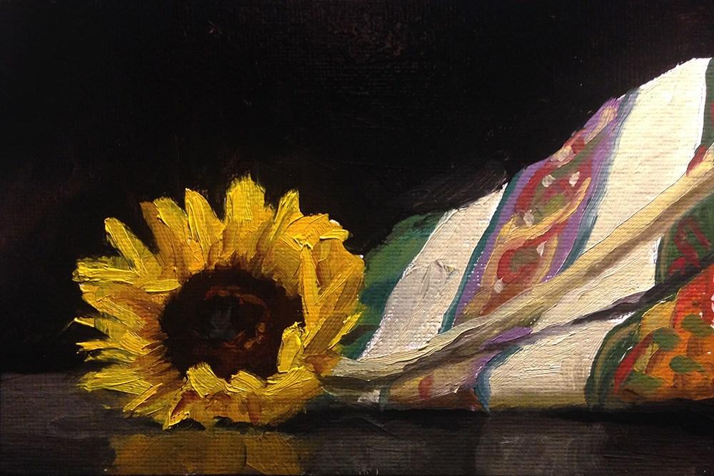 """Sunflower at the End"" original fine art by Chris Beaven"