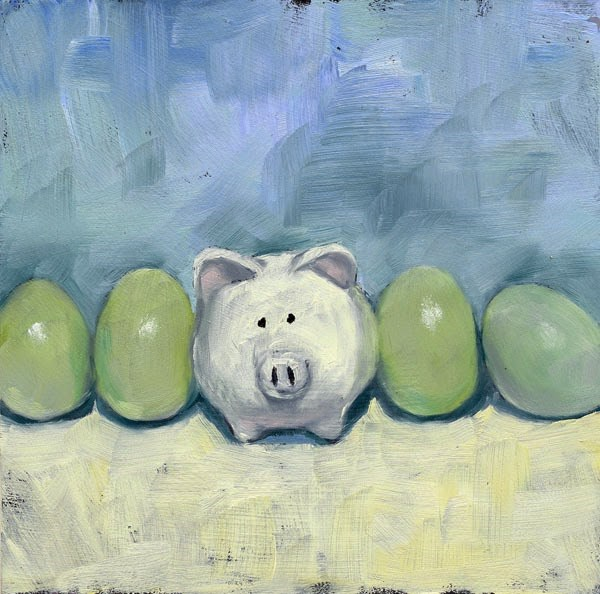 """How to Separate Eggs"" original fine art by Brenda Ferguson"