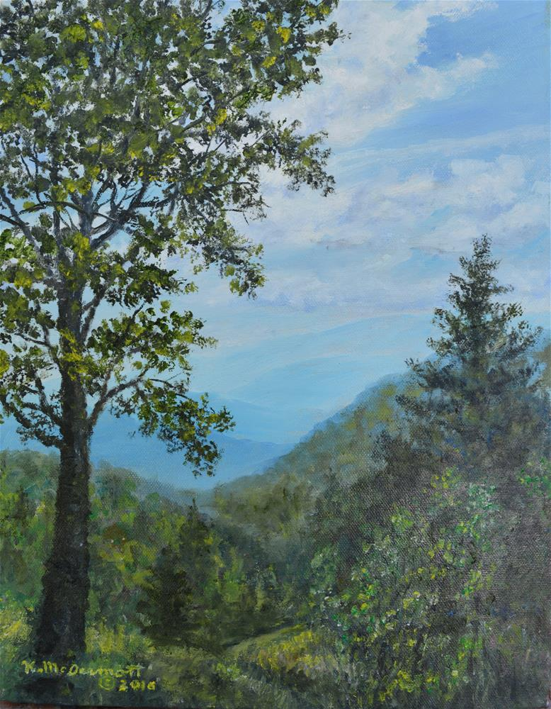 """Blue Ridge Parkway Overlook (C) 2016 by K. McDermott"" original fine art by Kathleen McDermott"