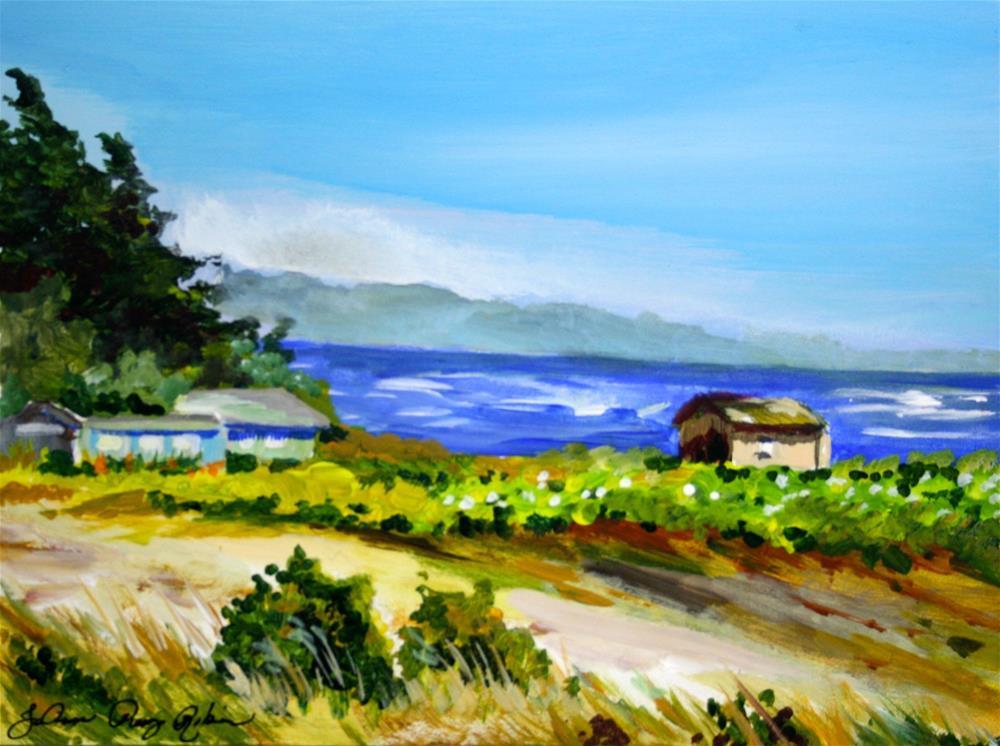 """Sea Shacks"" original fine art by JoAnne Perez Robinson"