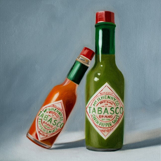 """Hot and Mild Tabasco"" original fine art by Lauren Pretorius"