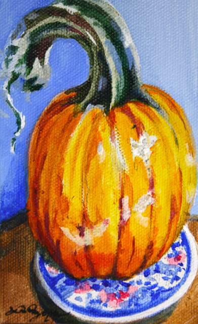 """October on the Blue Plate"" original fine art by JoAnne Perez Robinson"