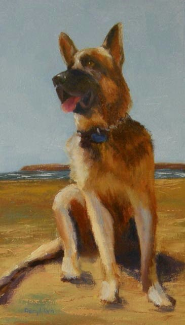 """Wrigley - Dog #17"" original fine art by Daryl Lyn King"
