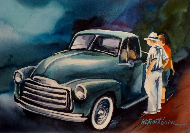 """Old Friends"" original fine art by Kathy Los-Rathburn"