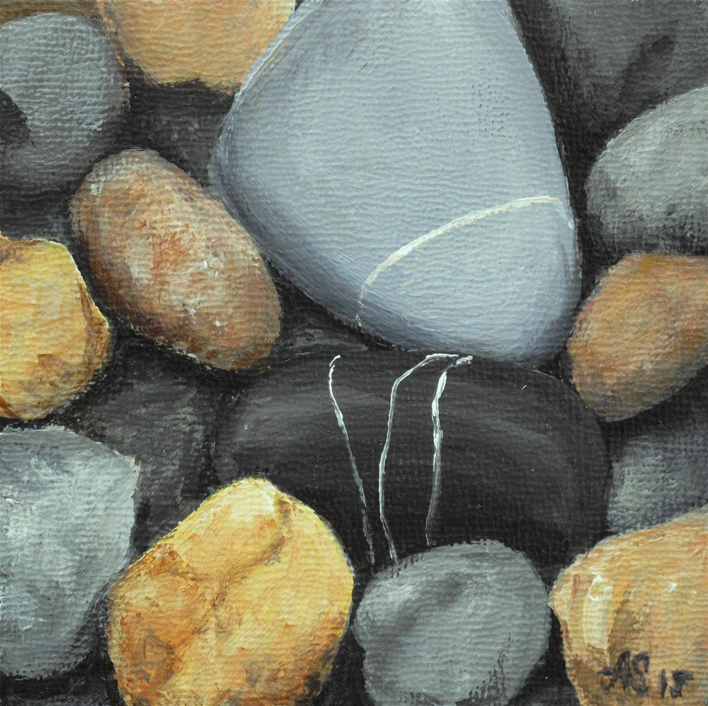 """Stones III"" original fine art by Anna Starkova"