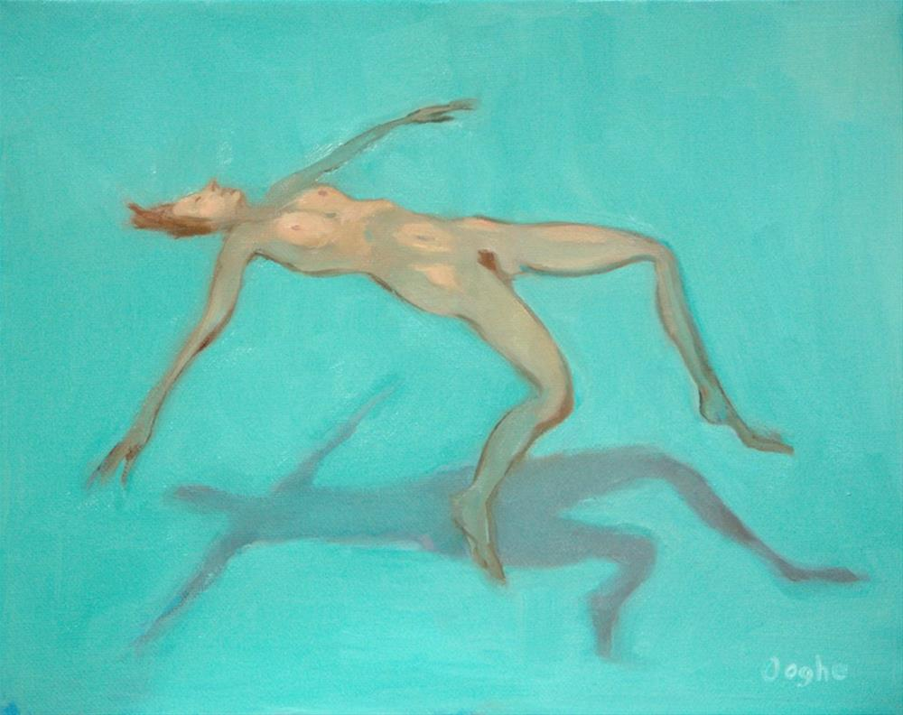 """Floating Nude 4"" original fine art by Angela Ooghe"